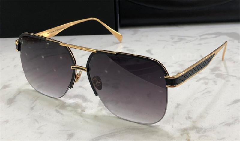 케이스 상단 K 골드 남성 선글라스의 차 DEELANT I 패션 디자인 최고 야외 UV400 안경 평방 하프 프레임