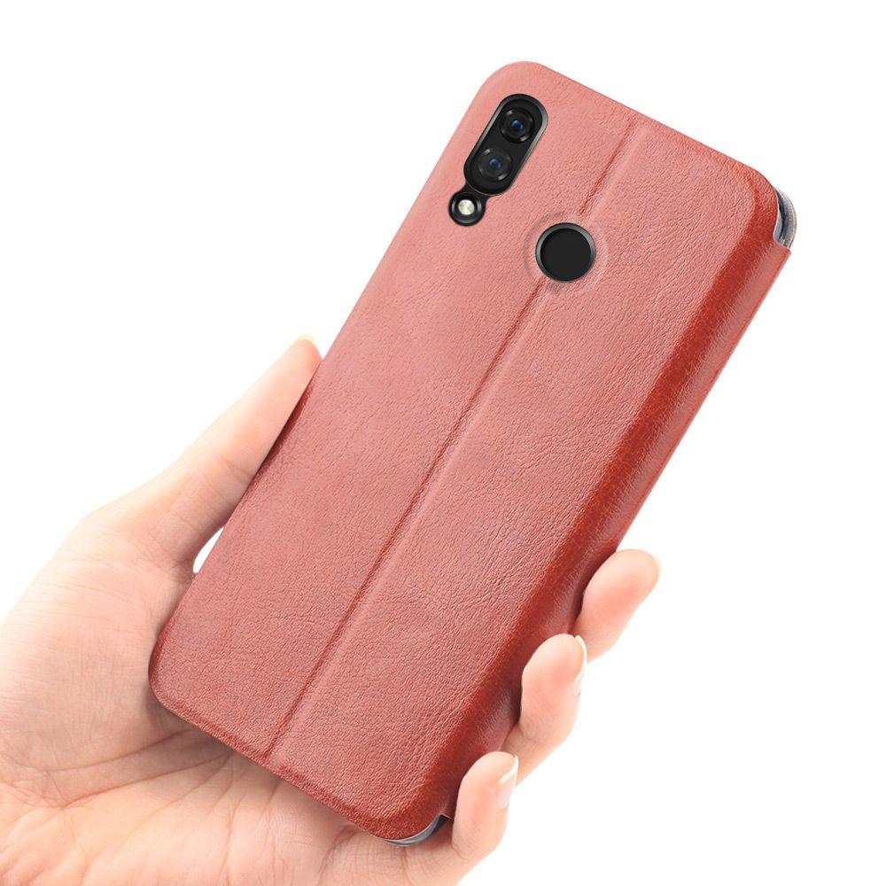 MOFi Flip Cover for Huawei Nova 3i Case Folio Stand Housing Clear TPU Capa PU