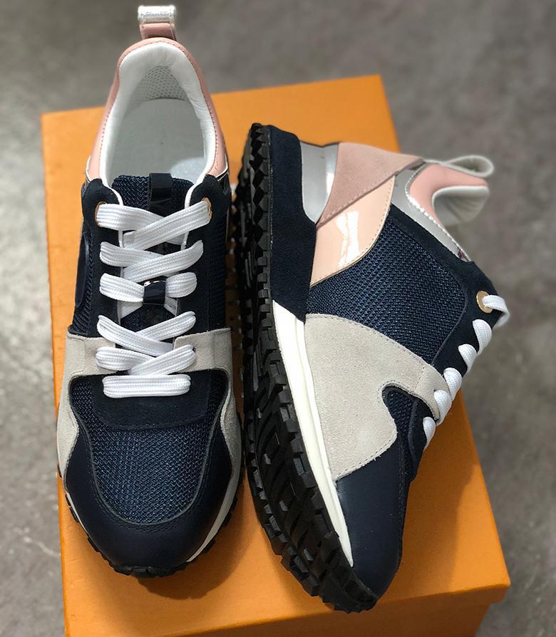 Louis Vuitton LV 2018 Nuove scarpe casual in pelle di lusso Scarpe sportive da donna progettate da uomo, scarpe da uomo Pelle moda in pelle Colore misto Tempo libero -2