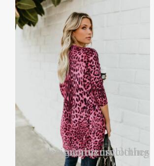 Sexy Frauen-Leopard-Mäntel Mode lange Buttons Druck Kleidung Jacke Frühling Herbst Designer Mäntel