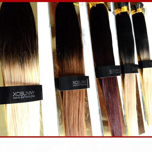 """XCSUNNY 100% Remy Indian Hair Ombre I Tip Hair Extensions 18""""20"""" 1g s Extension Keratine Blonde Human Hair Extension"""