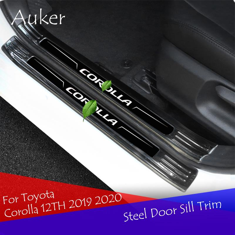 Двери автомобиля подоконника пластины отделки педали приветствовать автоаксессуары из нержавеющей стали для Corolla 12TH 2019 2020