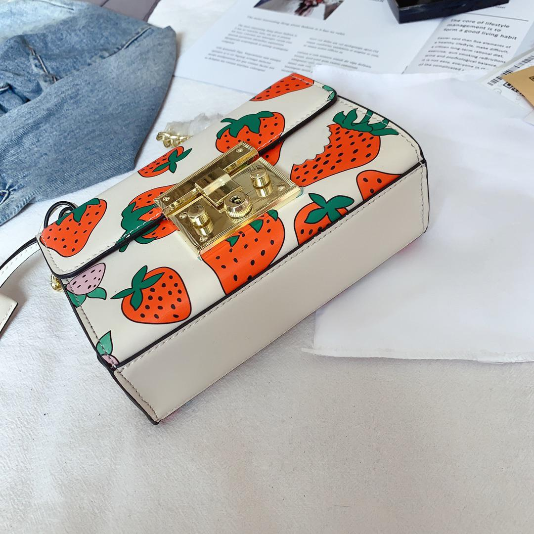 Bolso de hombro del diseñador Cruz bolso de las mujeres de lujo del cuerpo de fresa linda CFY2003051 Moda //