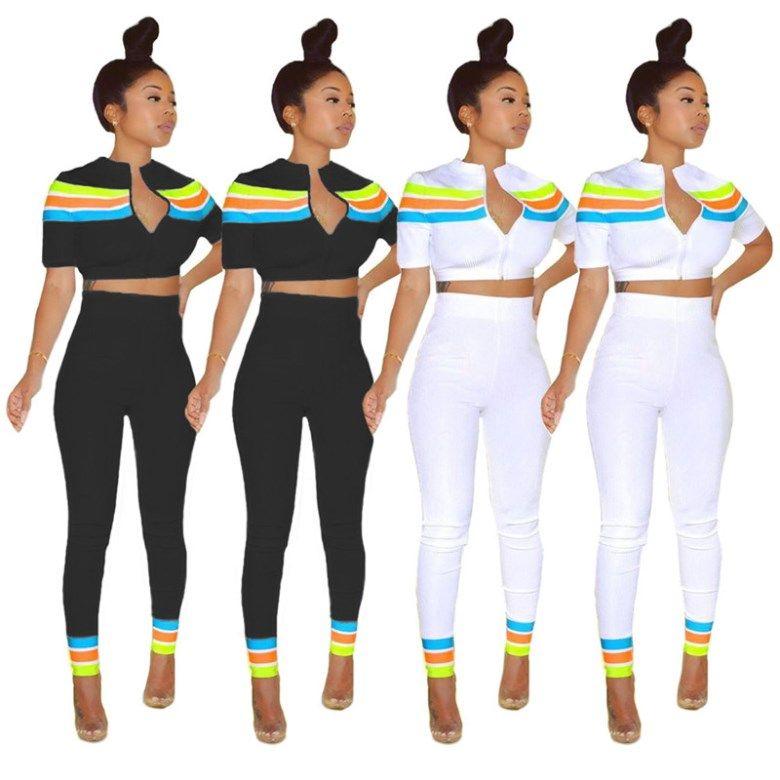 kadın iki parçalı setin kıyafetler kısa kollu eşofman ceket pantolon dış giyim tayt spor sıcak klw3381 set spor giyim legging kapüşon