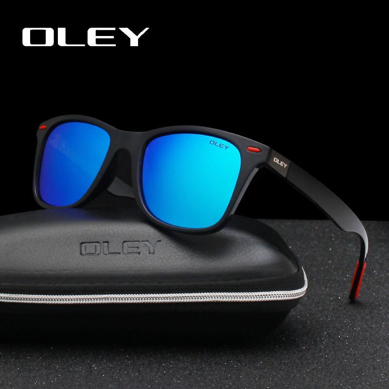 Oley Sunglasses Men Clássico Fashion Square Mulheres óculos de sol UV400 Goggle Suporte Y3084 personalização