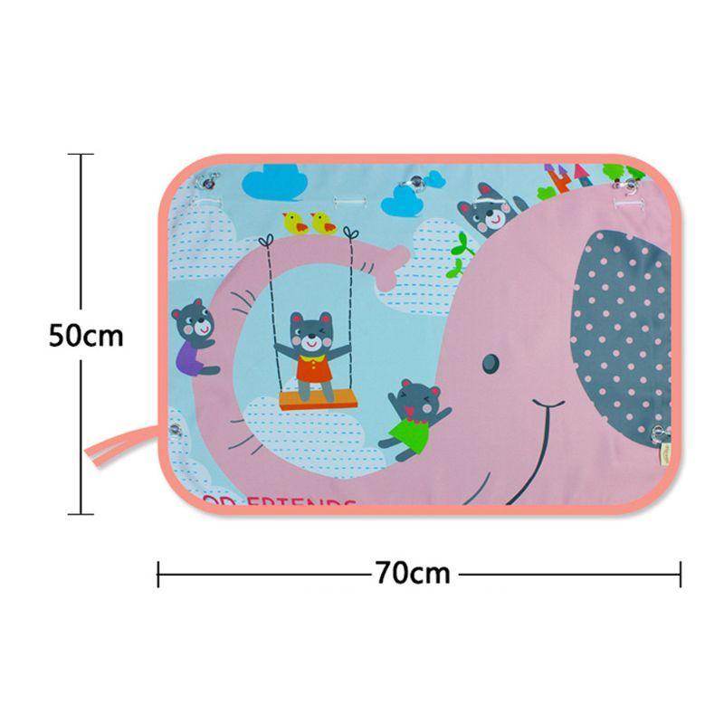 70 * 50CM niños lateral cortina de ventana de la historieta de la sombrilla del coche del visera de sol de protección UV de cortina para los muchachos de los niños Coches trasera cubierta lateral