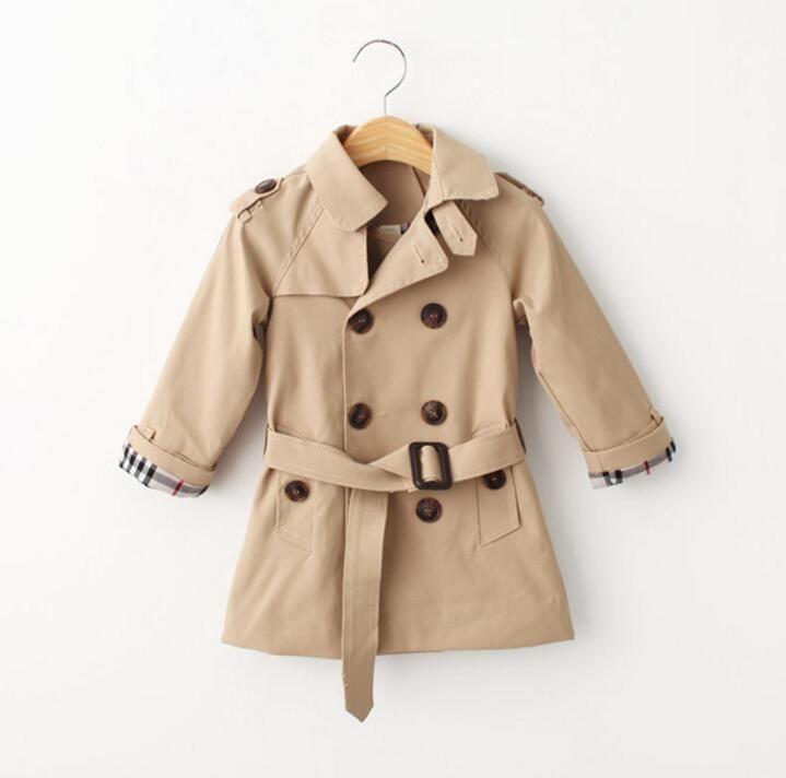 Розничная весна плащ для девочек мальчик одежда детская одежда хлопок двубортный пиджак детская одежда ветровка девочки мальчики пальто