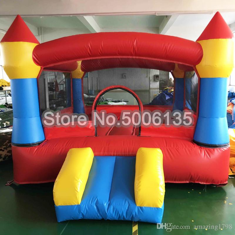 3x3x2 متر نفخ القلاع نطاط القلاع القفز القلعة ترتد منزل نفخ الحارس مع الشريحة للأطفال متعة اللعب
