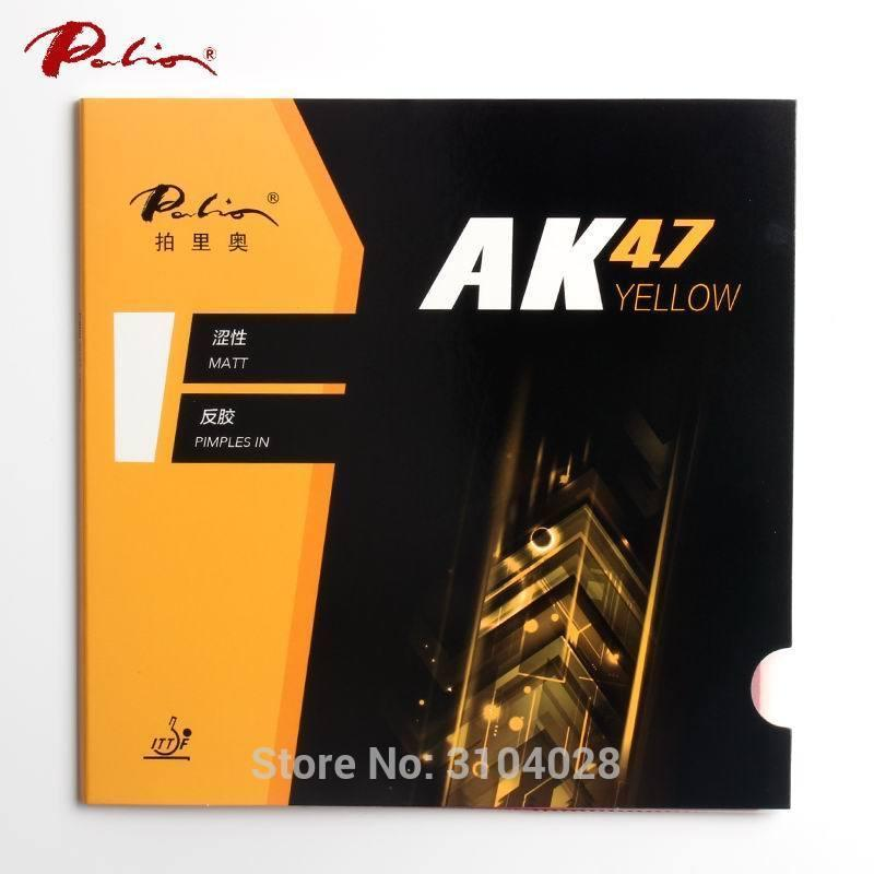 Palio official 40+ yellow Ak47 table tennis rubber yellow sponge for loop and fast attack new style for racquet game ping pong C18112001