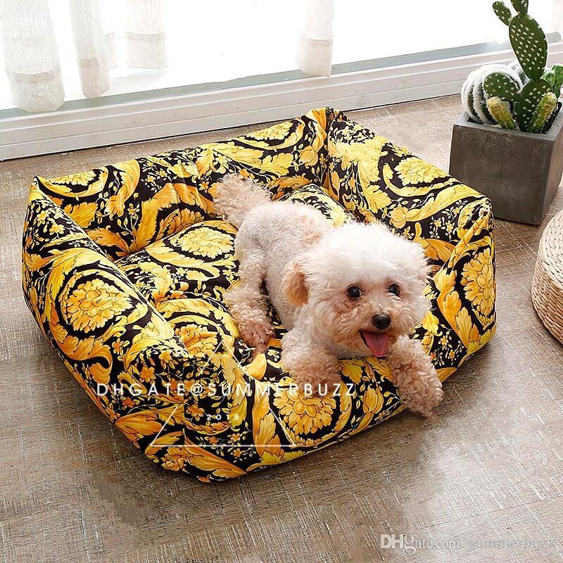 LE VASO barocco Medusa Teddy Pet Bed piccoli cani e gatti letto di modelli Black Gold Classic morbida biancheria da letto Pet Articoli