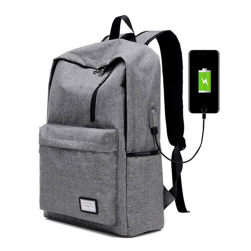 Designer-Men's Everyday Backpack Nylon Teenager School Bag Tech Backpack Women Daypack Rucksack Laptop Bag with USB Charge Port