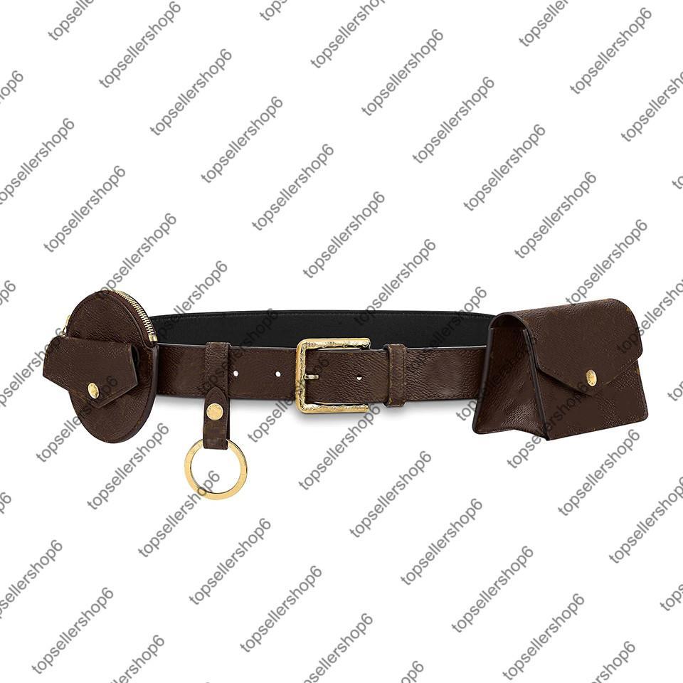 M0236U DAILY MULTI POCKET 30MM حزام الرجال والنساء فاني قماش جلد العجل الحقيقي الخصر حزمة أكياس حامل مفتاح محفظة