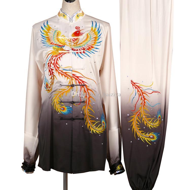 Çin Tai chi Kungfu üniforma taiji kılıcı giysi kimono Çigong kıyafeti kadın erkek kız erkek çocuklar yetişkin çocuklar için işlemeli giysi