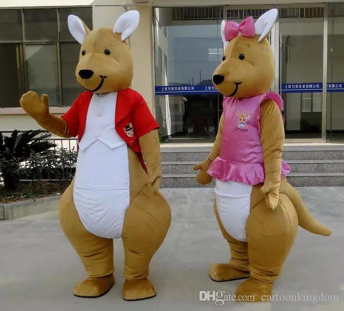 2018 Fabrika doğrudan satış EVA Malzeme Kask Kanguru Maskot Kostümleri Karikatür Giyim reklam kostümleri Cadılar Bayramı Doğum Günü partisi