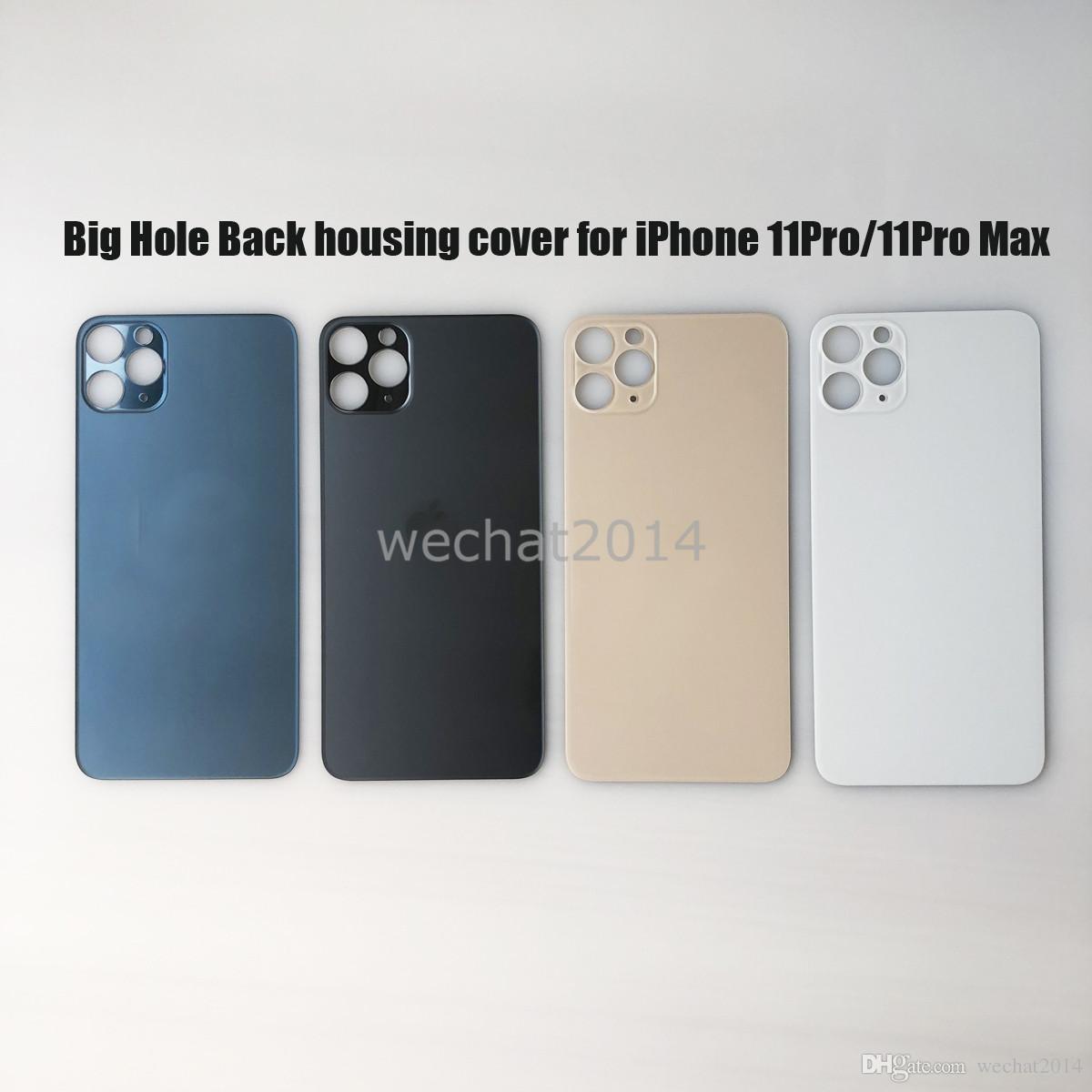 20PCS Big Hole Voltar porta da bateria tampa traseira tampa da bateria de substituição para iPhone 11 Pro Max DHL livre