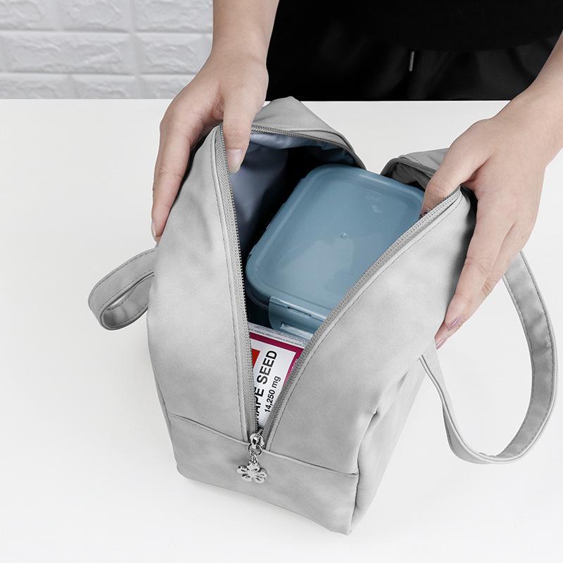 Öğle Çanta Basit El Bento Box Torbası Büyük Kapasiteli Hemşirelik Alüminyum Folyo Kalın