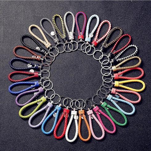 PU cuir porte-clés pendentif porte-clés support voiture Porte-clefs Tressé Porte-clés de corde tressée Sac bijoux à la mode de cadeau de Noël LXL610Q
