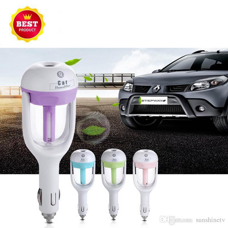 Yeni Sıcak Yüksek Kaliteli Araba Tak Hava Nemlendirici Temizleme Cihazı, Araç esansiyel yağ ultrasonik nemlendirici Aroma sis araba parfüm Yayıcı
