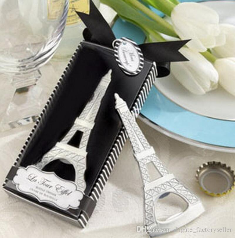 Romantic Wedding Souvenirs Paris Eiffel Tower Bottle Opener Novelty Wedding Party Favor gifts with retail package box LX6687