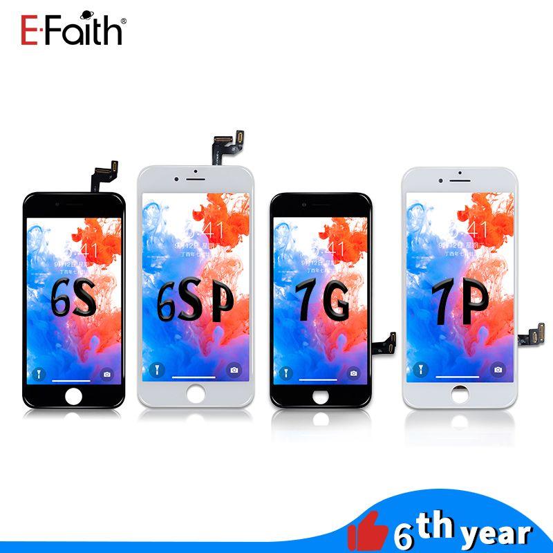 iPhone 6S 6S için EFaith Kalite LCD Ekran Dokunmatik Sayısallaştırıcı Çerçeve Montaj Tamir Artı 7 7 Artı DHL kargo