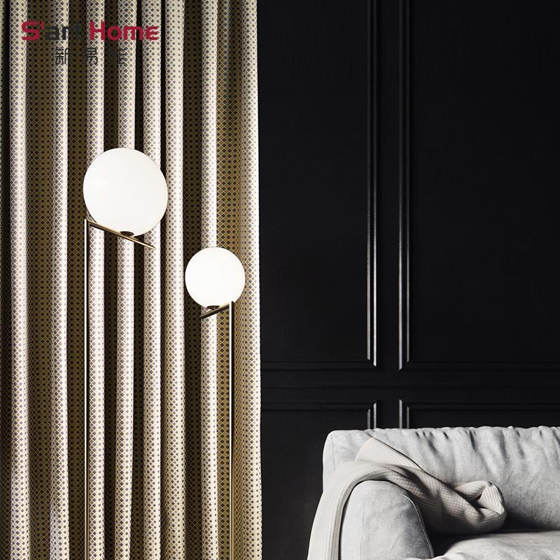 Amerikanischer Vorhang minimalistisches Nordic GT05 Hahnentritt Wohnzimmer Schlafzimmer Boden Vorhang individueller Gitter moderner