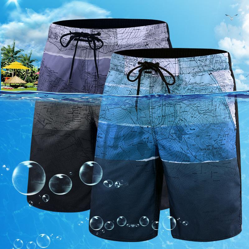 Séchage rapide Hommes Taille Beachwear plus Maillot Homme 2020 Impression Maillot de bain Summer Beach Pantalon de bain Maillots de bain Shorts d'homme L-6X