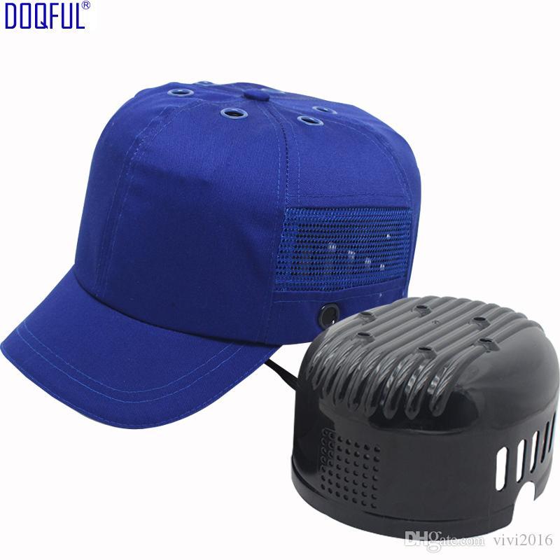 Casque de sécurité ANTI-Smash Sécurité Tête respirante Bumball de baseball Capuchon de baseball Capuchon de travail de travail de travail avec coquille ABS
