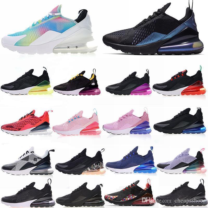 Zapatillas 270 Tn Cushion 2019 Zapatos deportivos de diseño deportivo 27c Hombres Mujeres Zapatillas Triple Blanco Universidad Oliva roja Volt 270s Zapato