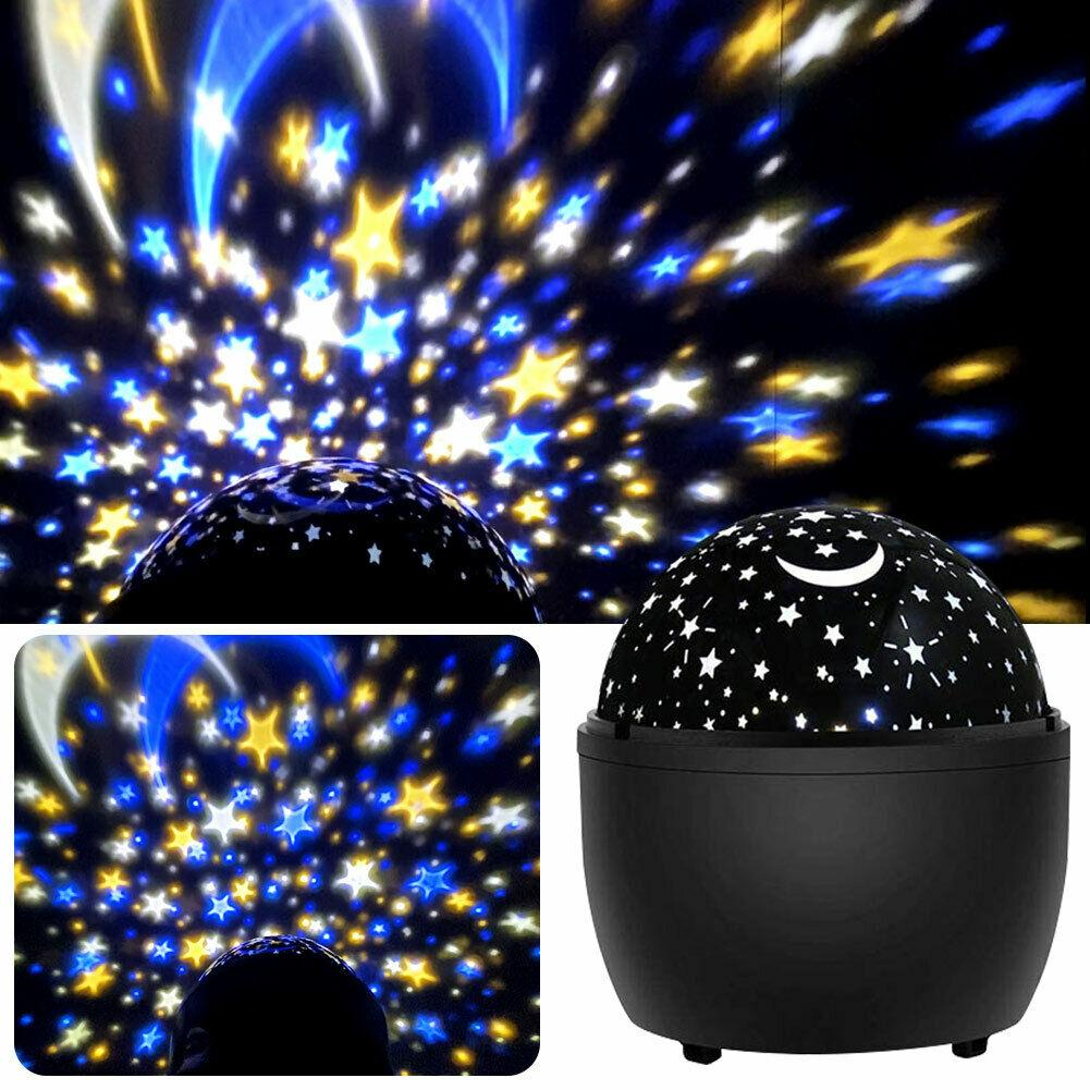 Star Projector Multiple Colors Night Light Lamp Romantic Rotating Cosmos Star Sky Moon Projector for Children Kids Bedroom