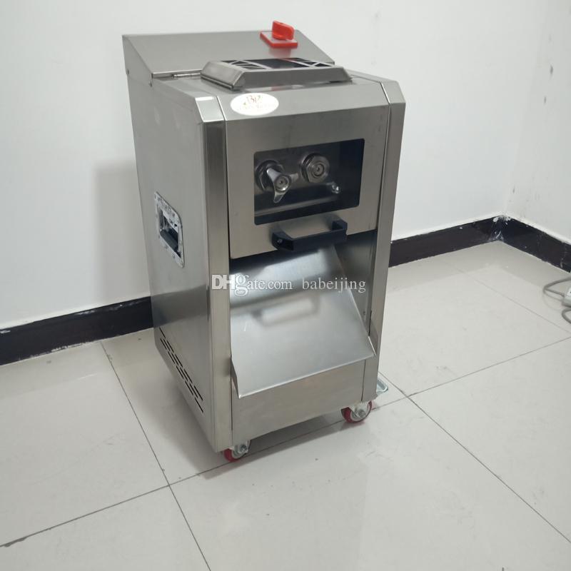 Machine de coupe de viande en acier inoxydable commerciale 220kg / h Double machine à viande de viande de viande coupée de viande découpée