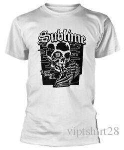 Sublime Crâne noir T-shirt blanc NOUVEAU OFFICIEL