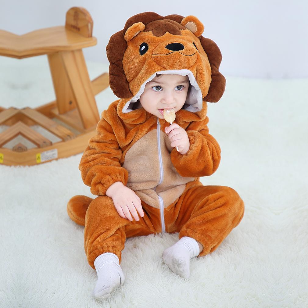 Mamelucos del bebé de la niña de la ropa del unicornio Kigurumi Niños Onesie del mono animado cosplay traje recién nacido niño del pijama de franela de Mono