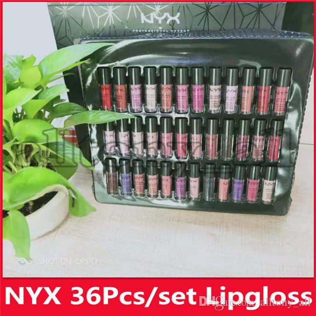 2019 Hot NYX SOFT MATTE LIP CREAM 36PCS NYX Rouge à lèvres Lip Gloss mat doux velours fading Pas pour les lèvres Maquillage 36 couleurs mis