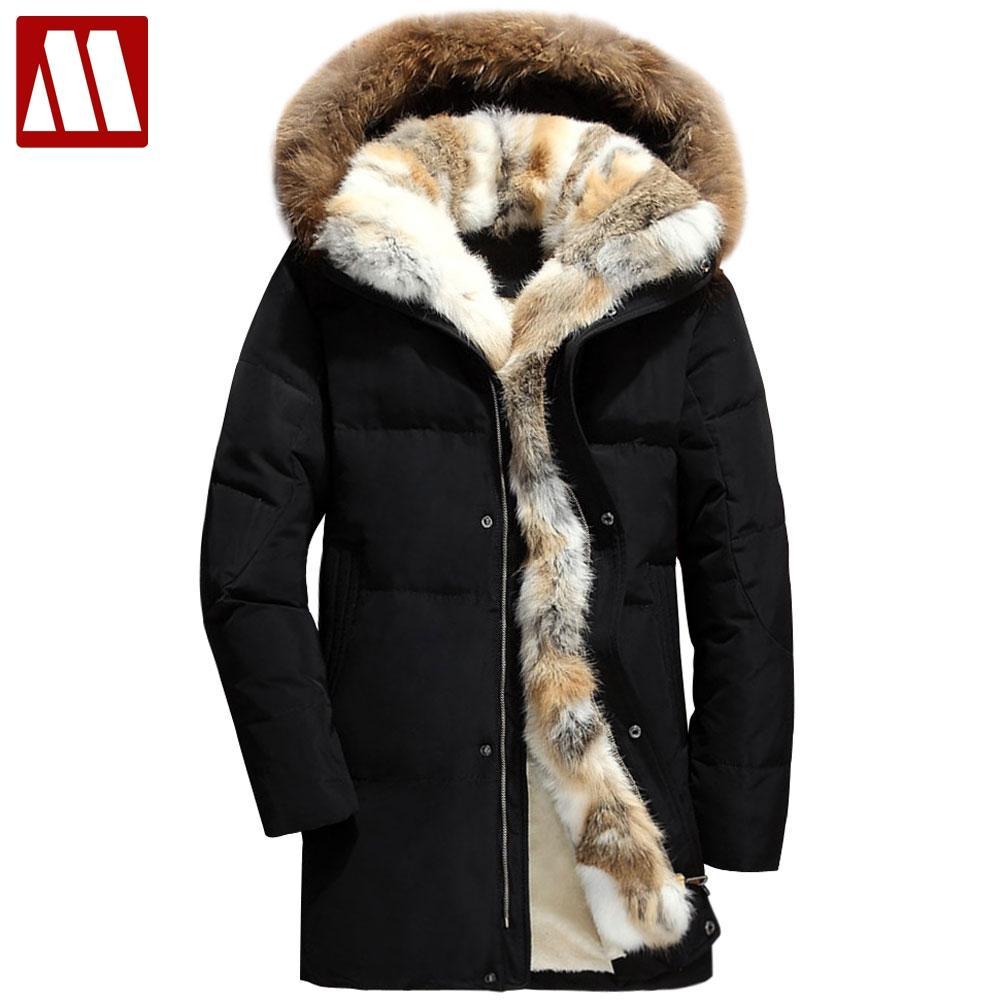2020 winter down coat men thick fur liner warm men's down jackets S-5XL size winter man hooded parka wellensteyn snow duck coats