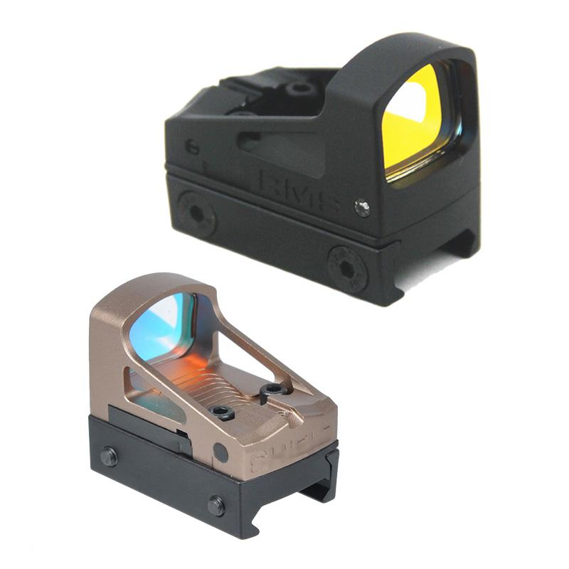 Tactical RMS Compact Rotpunktvisier mit belüfteter Berg und Verbreiterungen 3,25 MOA Pistole Red Dot Scope
