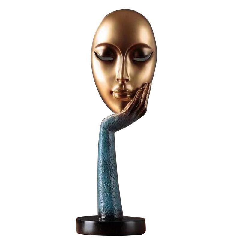 الحديث الإنسان المتأملين خلاصة سيدة الوجه التماثيل الحرف الراتنج النحت فن الحرف تمثال ديكور المنزل العرض