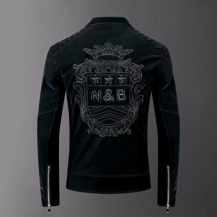 2019 новая мужская кожаная куртка с длинным рукавом jb1993002y01