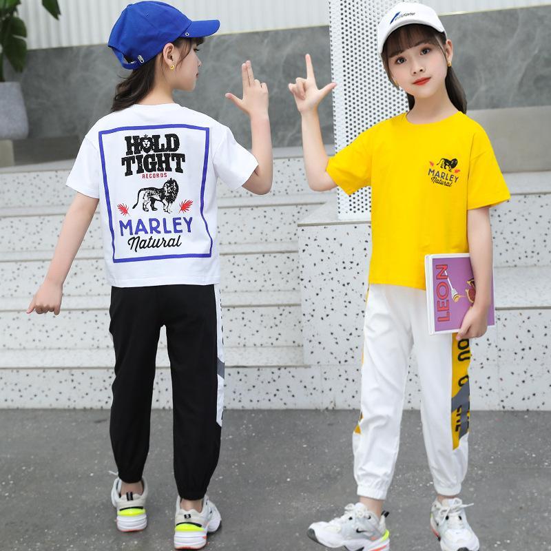 Diseñador niños traje de ropa de verano de los niños de manga corta 2020 nuevo estilo coreano Big Boy fresco de Chicos y chicas Pantalones finos de verano de dos piezas de Se