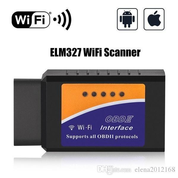 자동차 와이파이 OBD2 느릅 나무 327 V1 0.5 인터페이스 작품에 안드로이드 토크 캔 - 버스 ELM327 블루투스 OBD2 / OBD 이이 자동차 진단 스캐너 도구