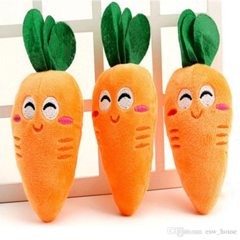 당근 봉제 씹는 쥐어 짜기 장난감 야채 모양 애완 동물 장난감 강아지 개 당근 봉제 씹는 쥐똥 장난감