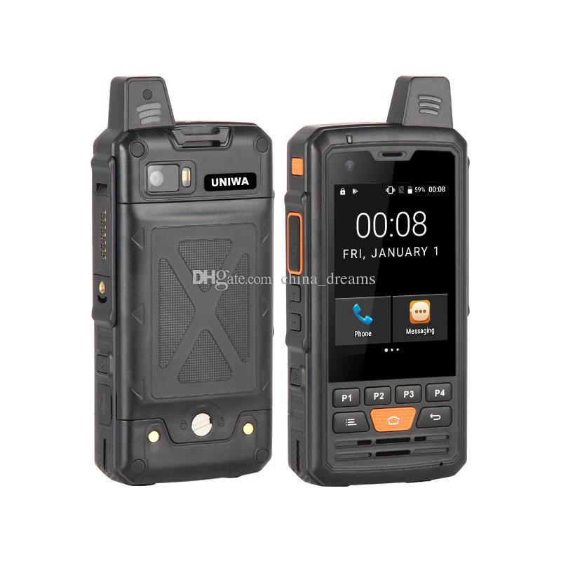 UNIWA Alpler F50 2G / 3G / 4G Zello Walkie Talkie Android Smartphone Dört Çekirdekli Cep telefonları MTK6735 1GB + 8GB ROM Cep Telefonu