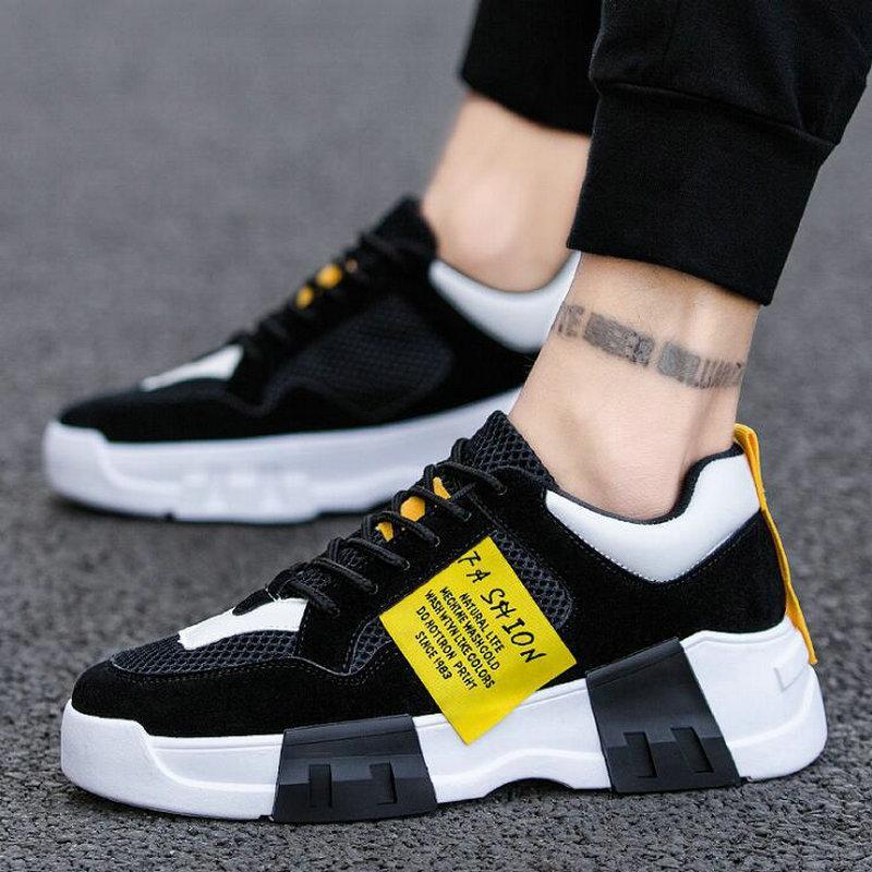 Scarpe Uomo Sneakers estate maglia respirabile casuale scarpe di sport degli uomini selvatici confortevole slittamento C32-88 Anti