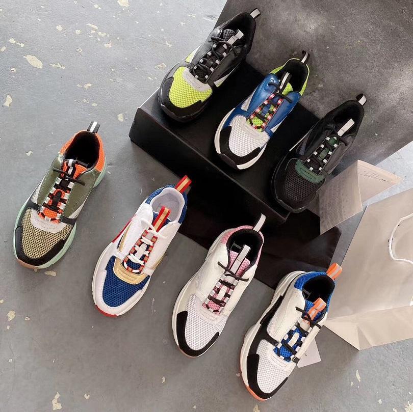 موضة أفضل جودة الرجال والنساء الأحذية الجلدية حقيقية اليدوية متعدد الألوان متدرجة النسيج الفني أحذية رياضية النساء الأحذية الشهيرة sh008 DO3
