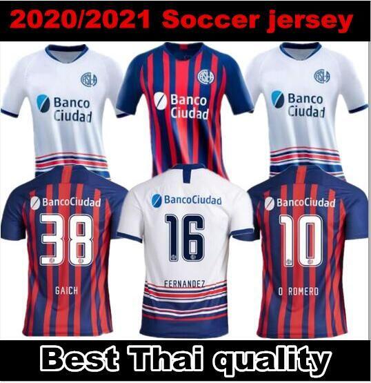 2020 2021 CA 산 로렌 소 축구 유니폼 (20) (21) 홈 원정 아르헨티나 BELLUSCHI 페르난데스 BLANCO 로메로 Gaich 피아 티 축구 셔츠