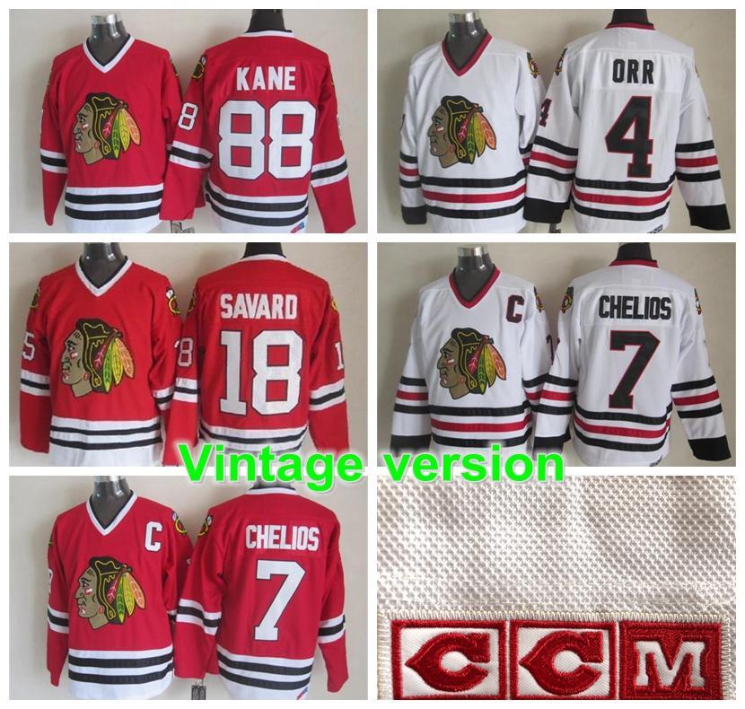 شيكاغو بلاك هوكس نسخة خمر jerseys19 TOEWS 88 KANE 7 CHELIOS 21 ميكيتا 9 HULL 35 ESPOSITO 27 ROENICK أصيل CCM هوكي الفانيلة