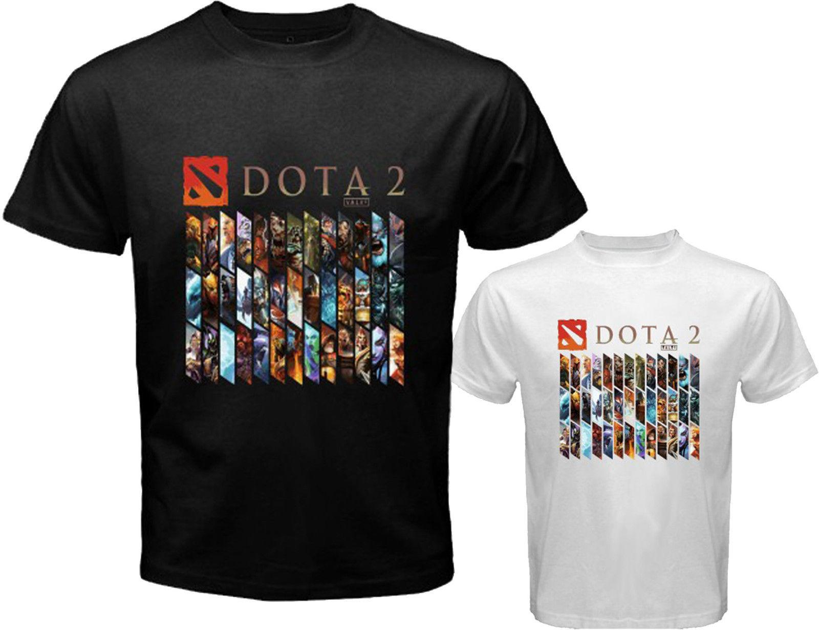 Dota 2 Heroes Logo Defense Of The Ancients Mens White Black T