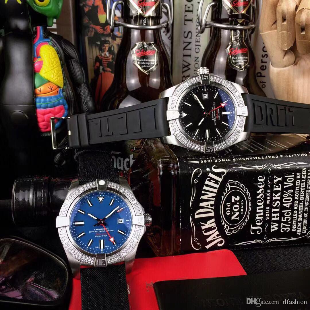 Designer-Uhr B0122 Luxus Herrenuhr GMT vollautomatische Maschinen Avengers Amsel Scout Military Leinenband hohe Qualität