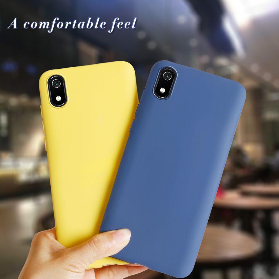 Telefono caso di casi per Xiaomi redmi 7A nero opaco della copertura del silicone TPU della copertura posteriore per Xiomi Xiaomi redmi 7A 7 Un caso Redmi7A A7