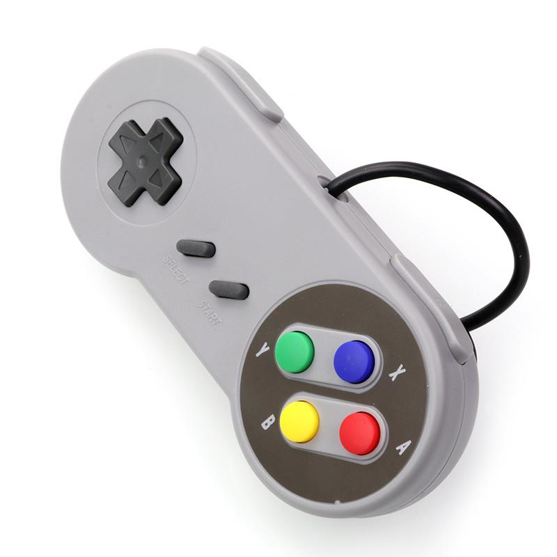 2018 Nuevo controlador de juegos con cable USB Gamepad Joystick para Super Nintendo Console Classic Portable Video Gaming Gamepad