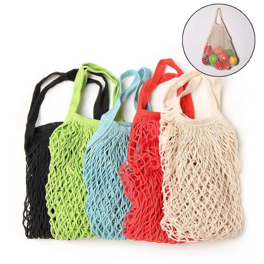 Maglia netta all'ingrosso Shopping String sacchetto di drogheria riutilizzabile della tartaruga per la cucina pieghevole Hanging String Frutta bagagli Handbag Totes